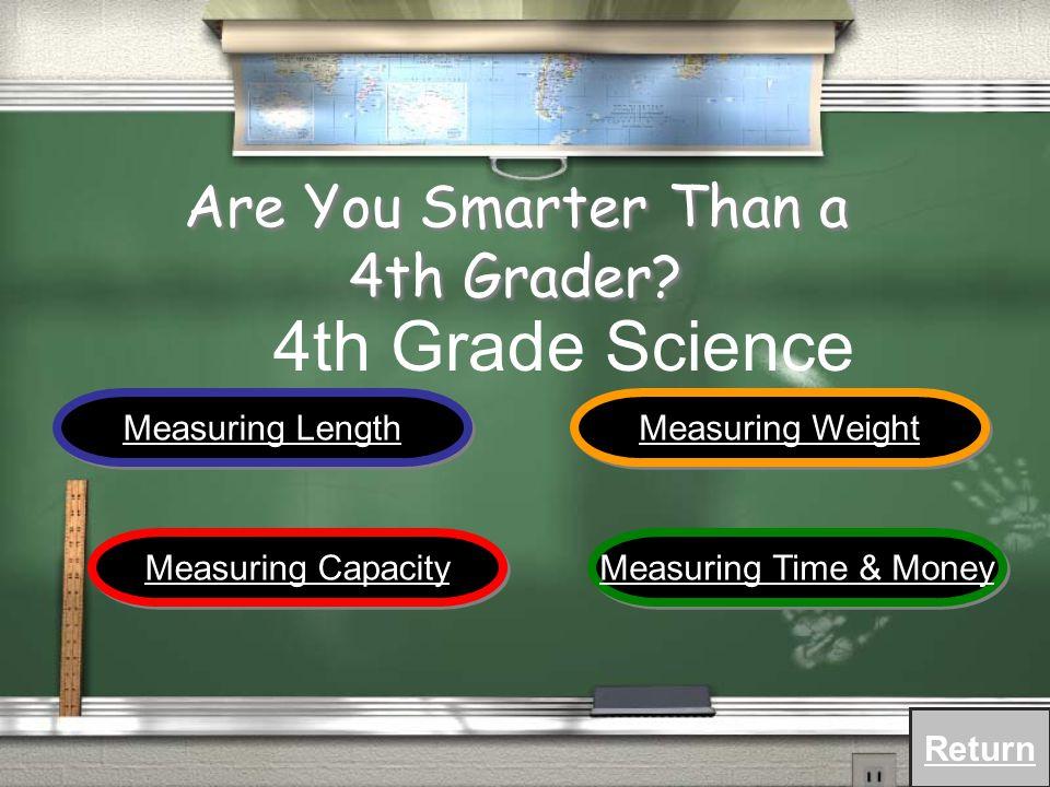 Measurement Geometry Number Sense Probability & Statistics Algebraic Sense 4 th Grade Mathematics Return