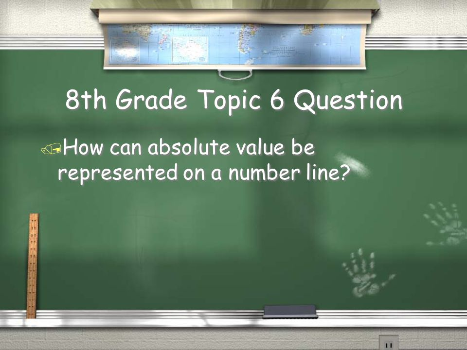 8th Grade Topic 5 Answer / An expression doesn't have a given value. Example: 3x - 8 / An equation has a given value shown with an equal sign. / Examp