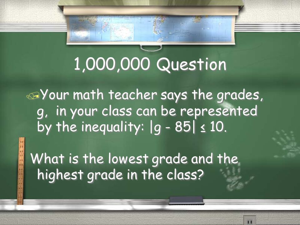 Million Dollar Question Grade Level Topic 11 Making the Grade