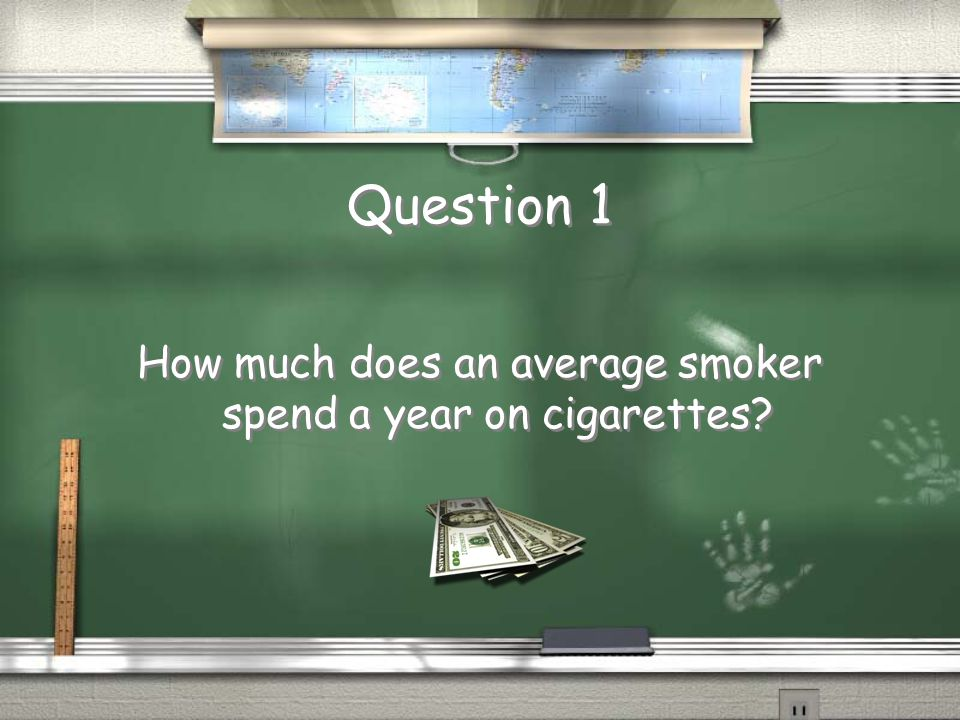Question 1 How much does an average smoker spend a year on cigarettes?
