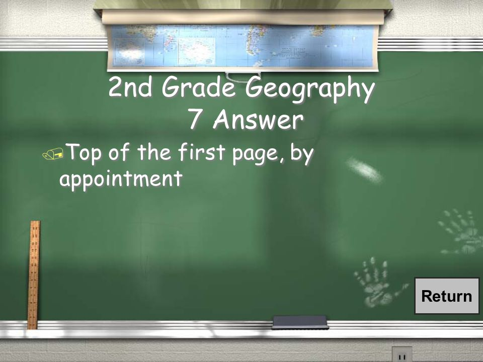 2nd Grade Geography 7 Question / Where in the syllabus are the instructor's office hours listed?