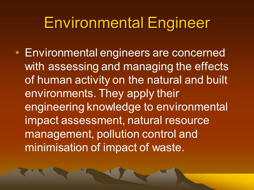 Geological Engineer Geological engineers utilise the principles of earth science in the solution of problems involving soil, rock and groundwater, and design structures in and below the ground.