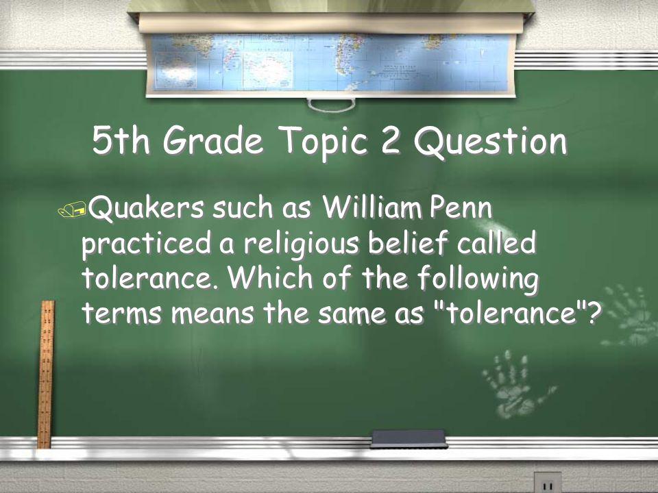 5th Grade Topic 1 Answer / 1300 Return