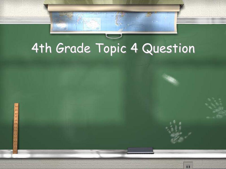4th Grade Topic 3 Answer Return