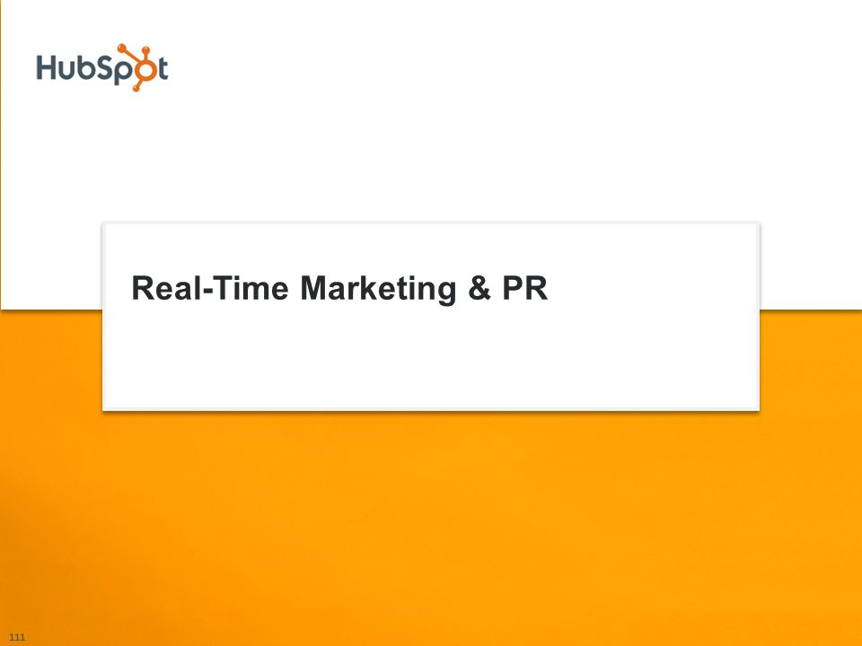 Real-Time Marketing & PR 111