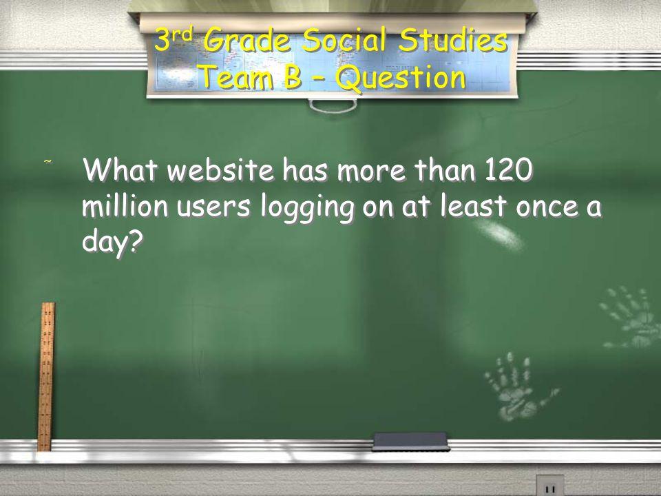 3 rd Grade Social Studies Team A - Answer / Twitter / Facebook / MySpace *Follow WLN and Weichert on Twitter: @WLNSales and @Weichert.