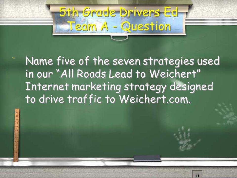 5 th Grade Math Team B - Answer / Six times the visitors per associate! Return