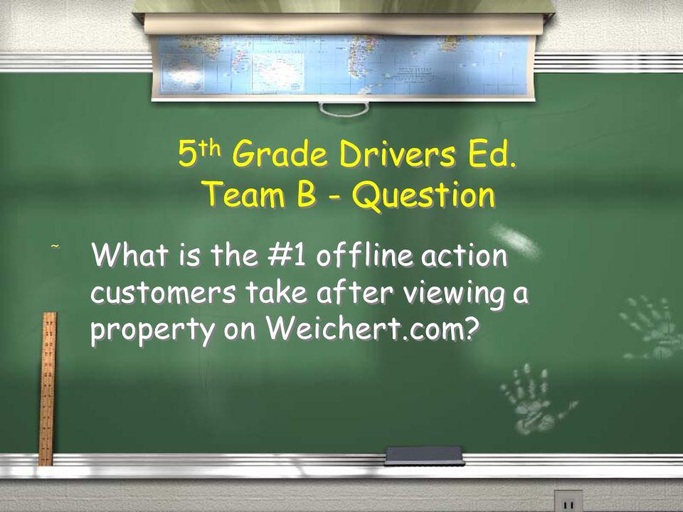 5th Grade Drivers Ed.
