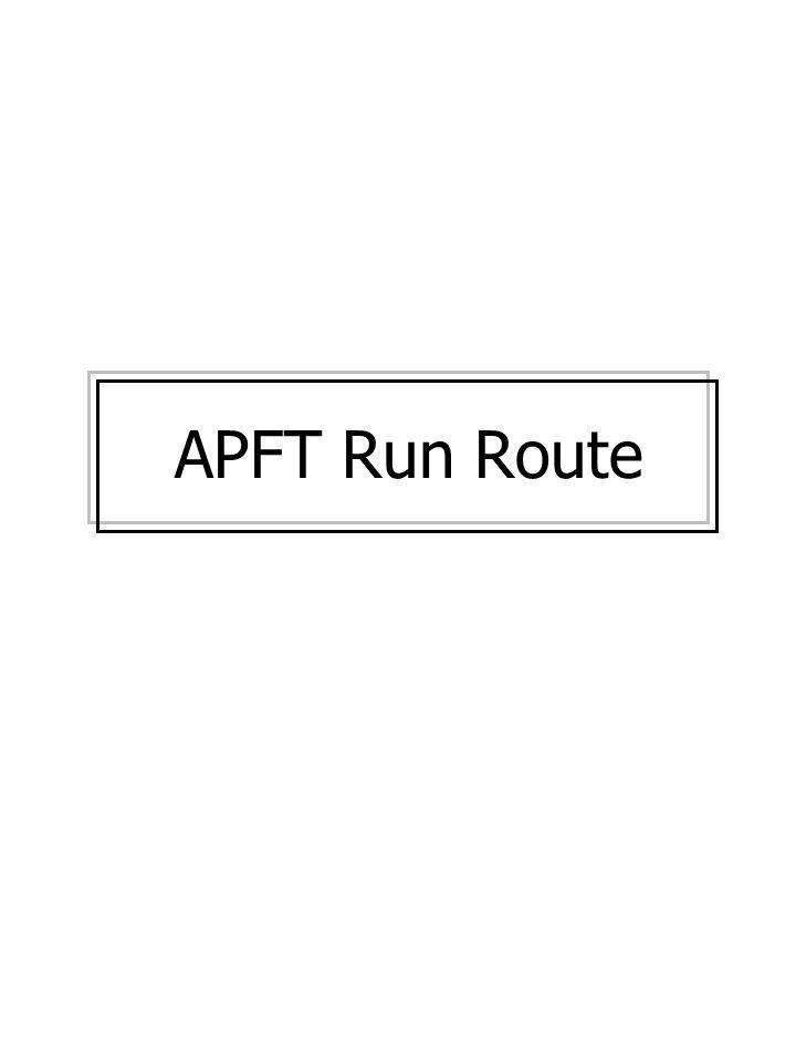 APFT Run Route