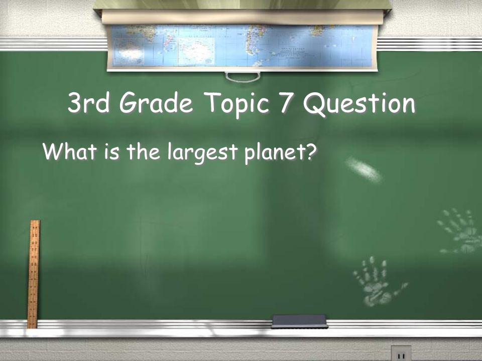 3rd Grade Topic 6 Answer Mercury Return