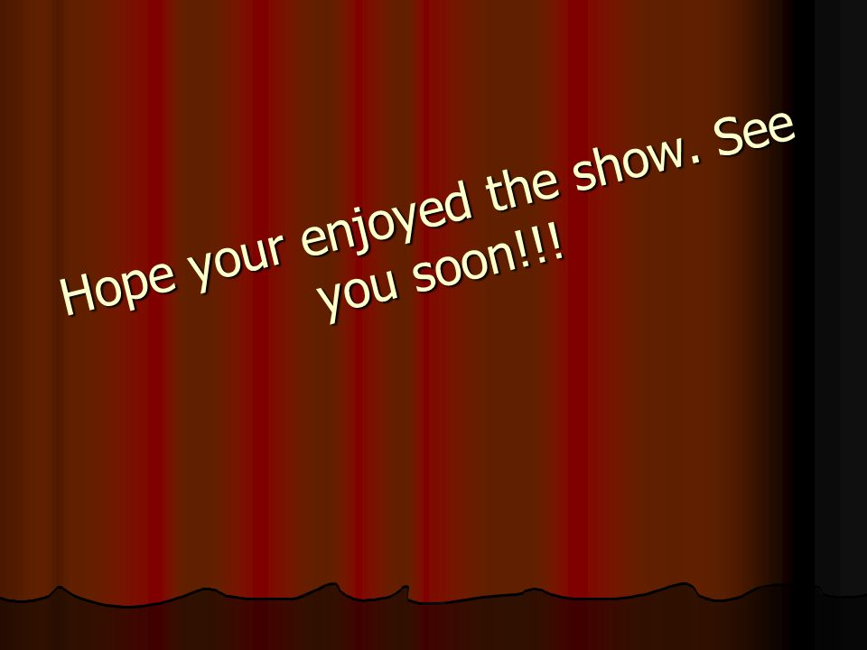 Hope your enjoyed the show. See you soon!!!