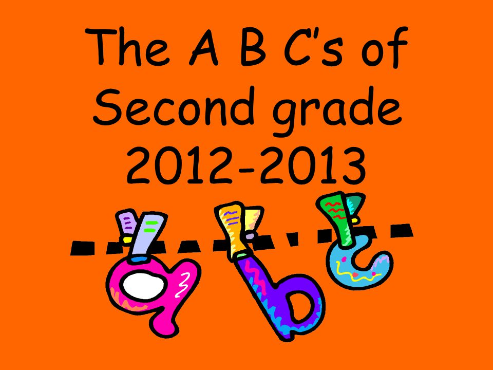 The A B C's of Second grade 2012-2013