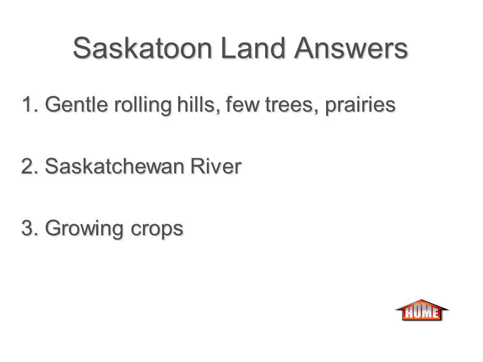 Saskatoon Land Saskatoon Land 1.What is the land like in Saskatoon.