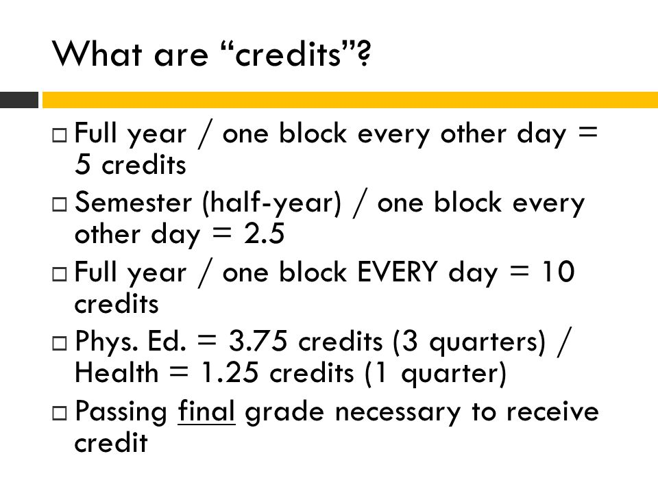 What are credits .