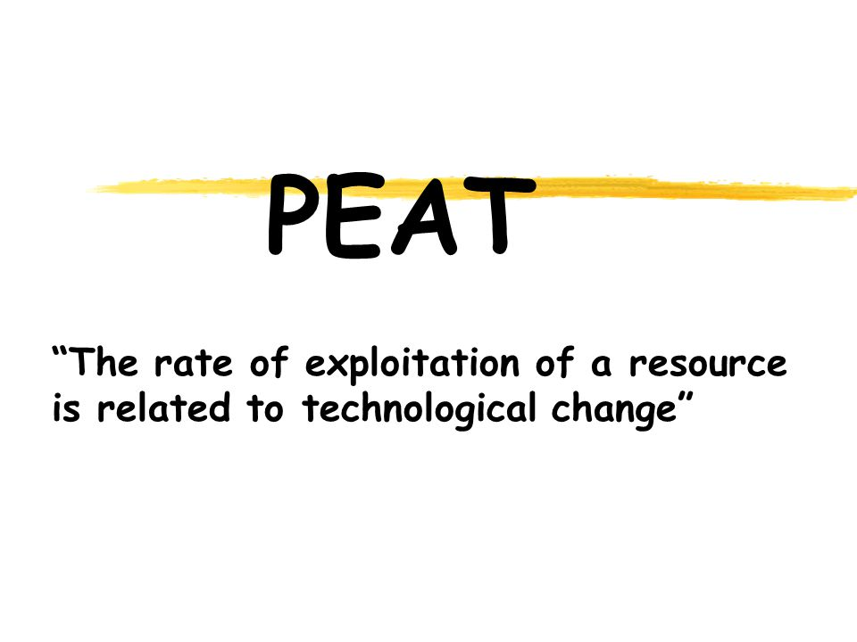 PEAT The rate of exploitation of a resource is related to technological change