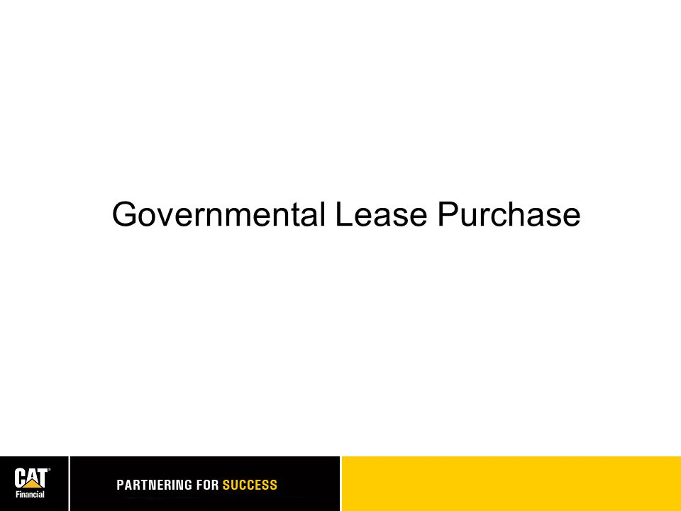 Governmental Lease Purchase