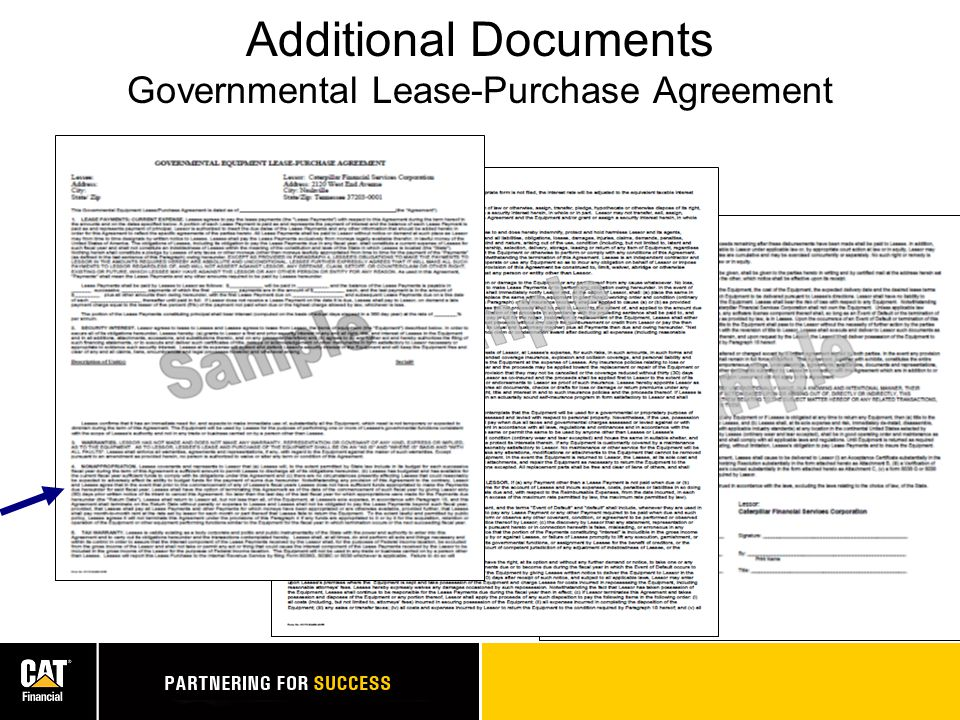 Additional Documents Governmental Lease-Purchase Agreement