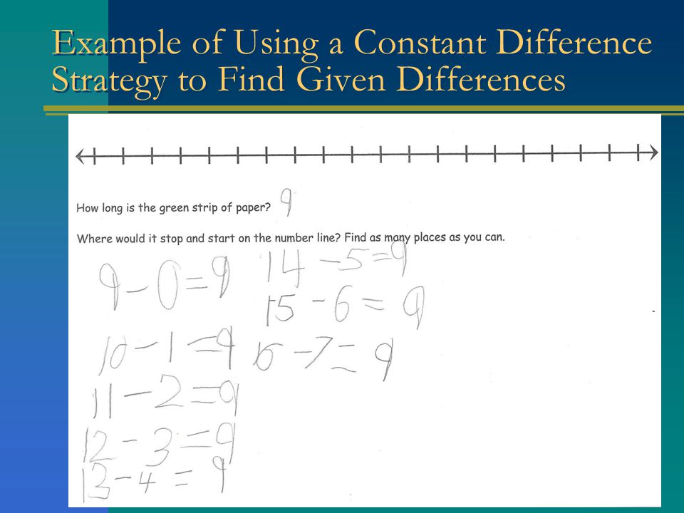 Example of Using a Constant Difference Strategy to Find Given Differences