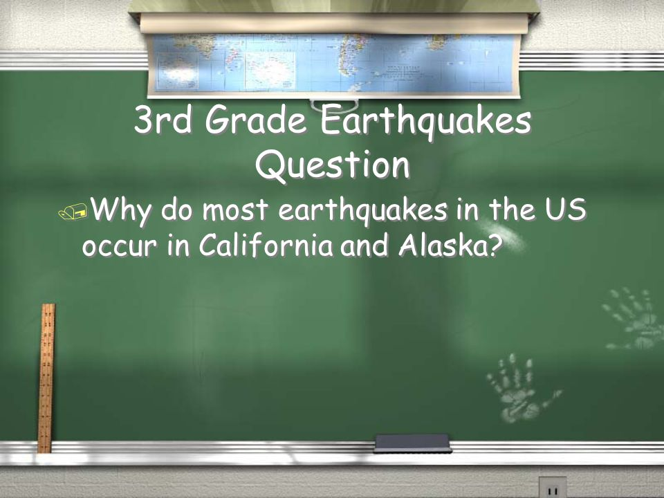4th Grade Seismographs Answer / Ground movement as it occurs. Return