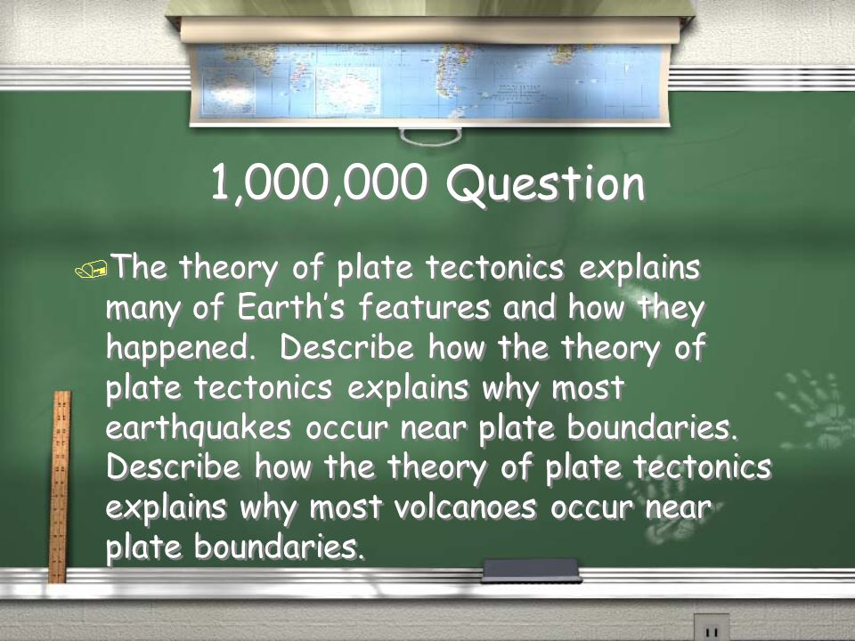 Million Dollar Question Grade Level Plate Tectonics