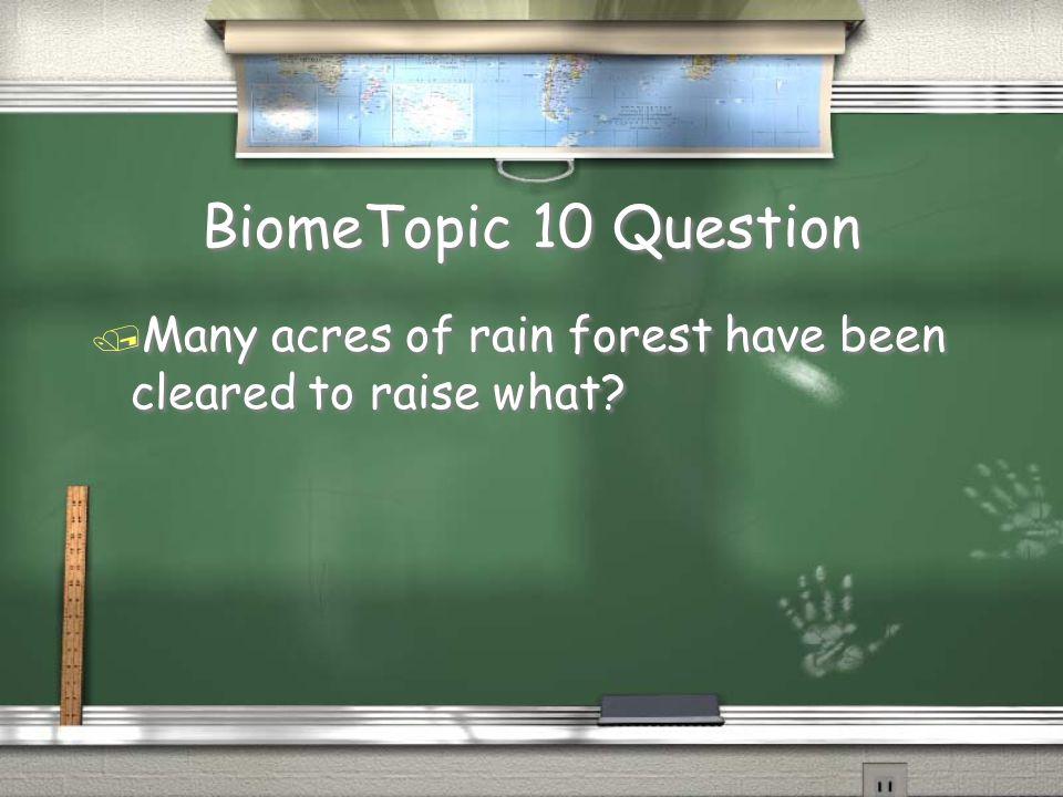 Earth Topic 9 Answer / Brazil Return