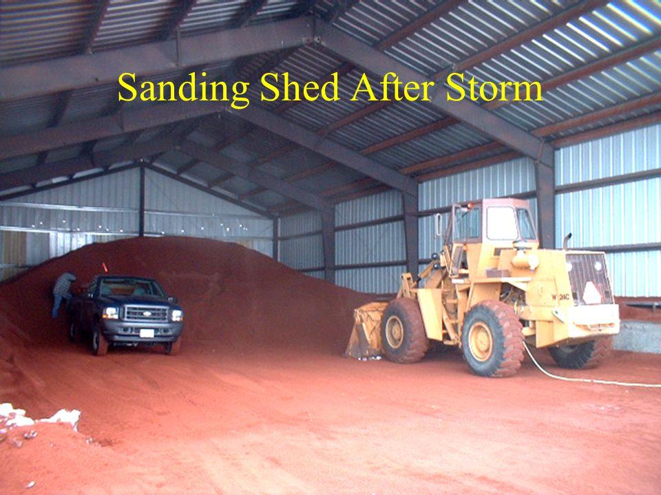 Sanding Shed After Storm