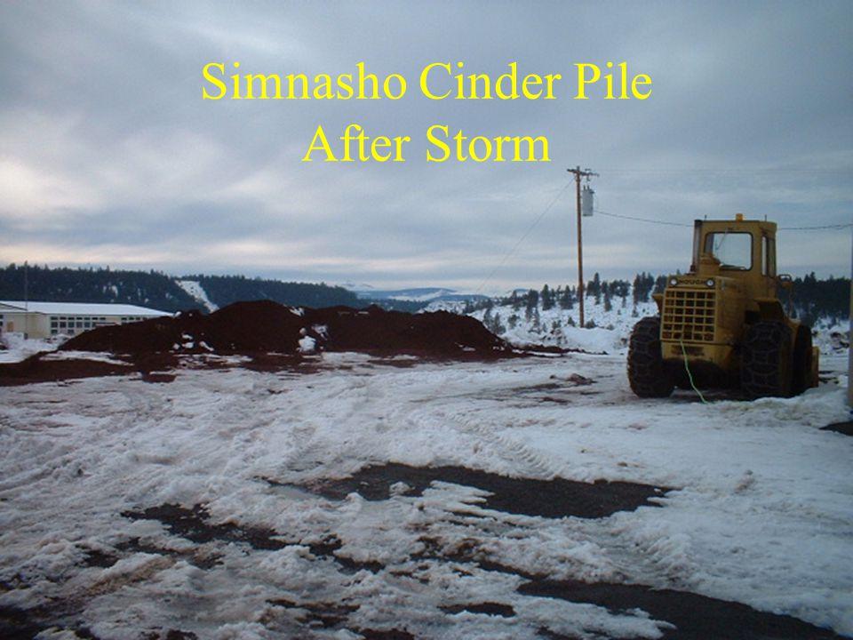 Simnasho Cinder Pile After Storm