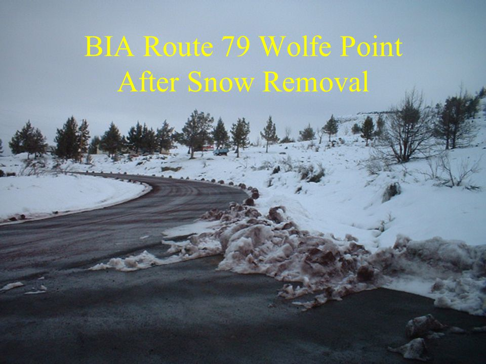 BIA Route 79 Wolfe Point After Snow Removal