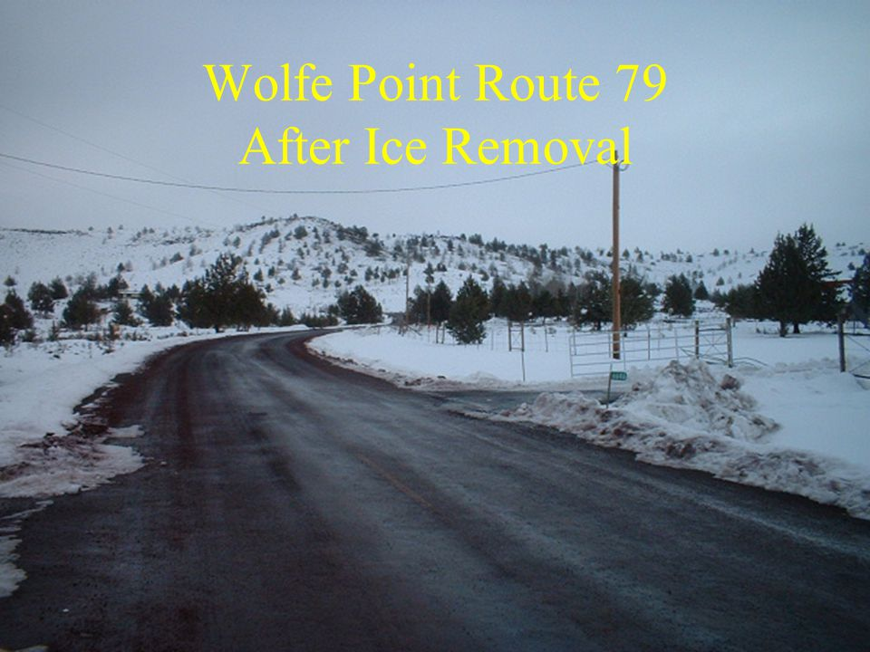 Wolfe Point Route 79 After Ice Removal