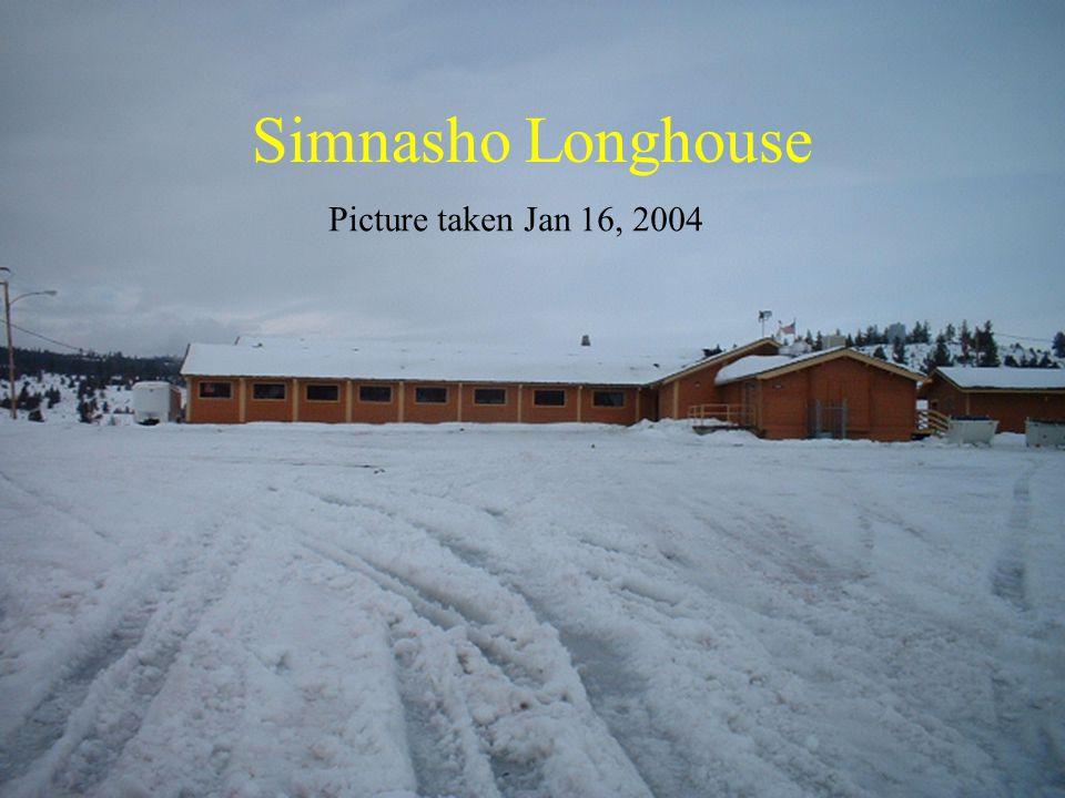 Simnasho Longhouse Picture taken Jan 16, 2004