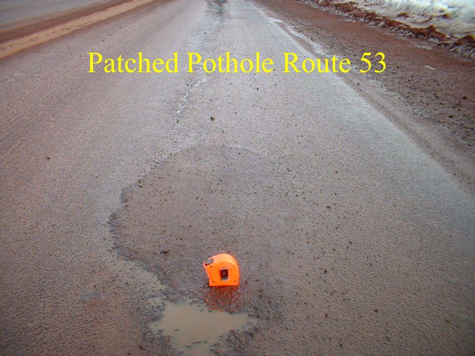 Patched Pothole Route 53