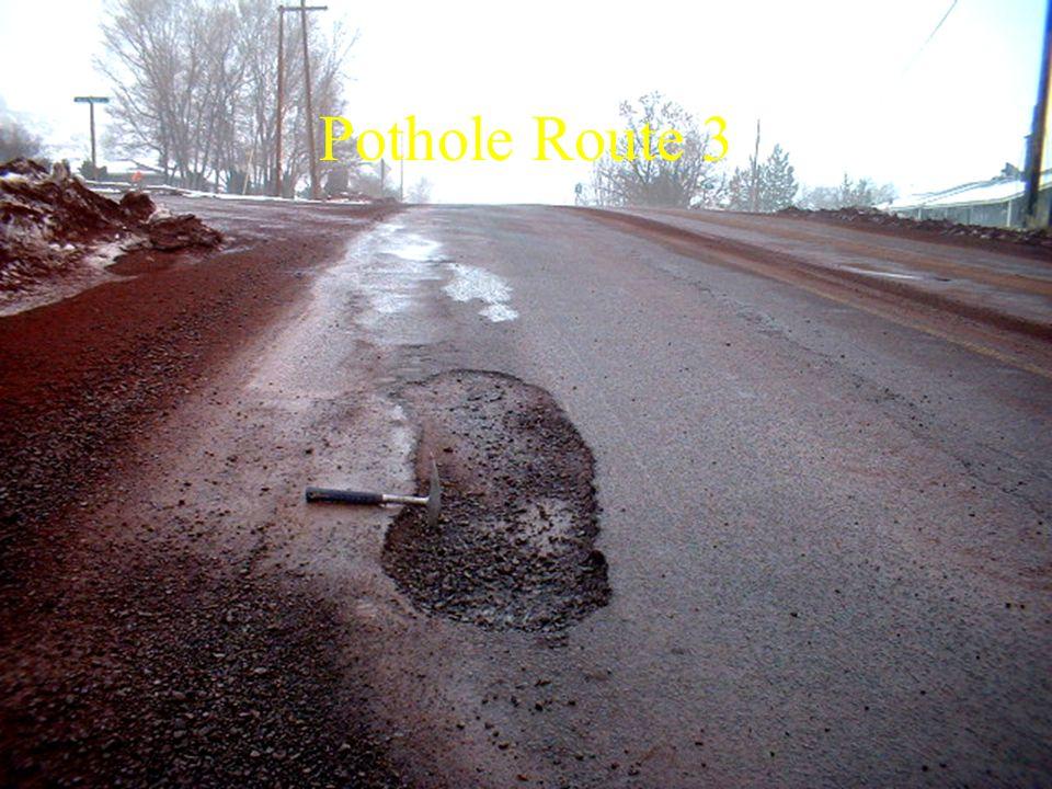 Pothole Route 3