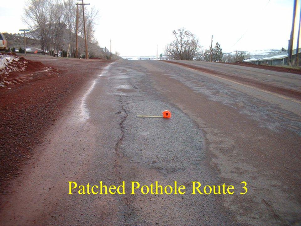 Patched Pothole Route 3