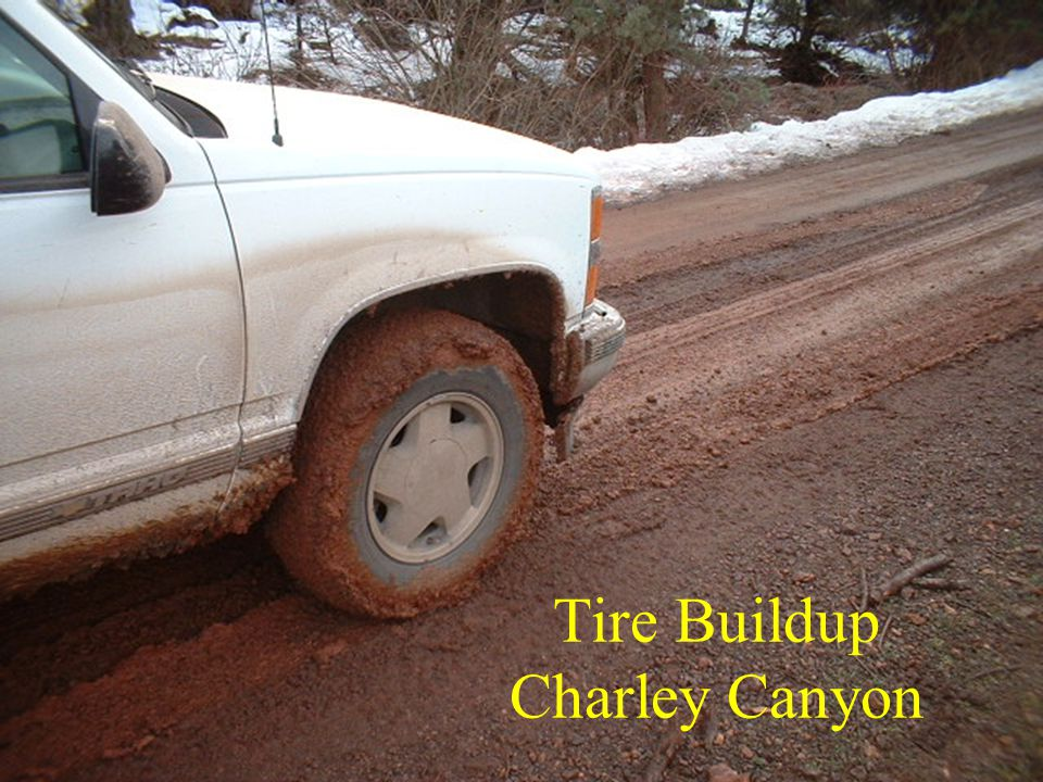 Tire Buildup Charley Canyon