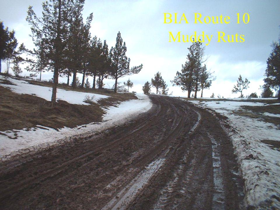 BIA Route 10 Muddy Ruts
