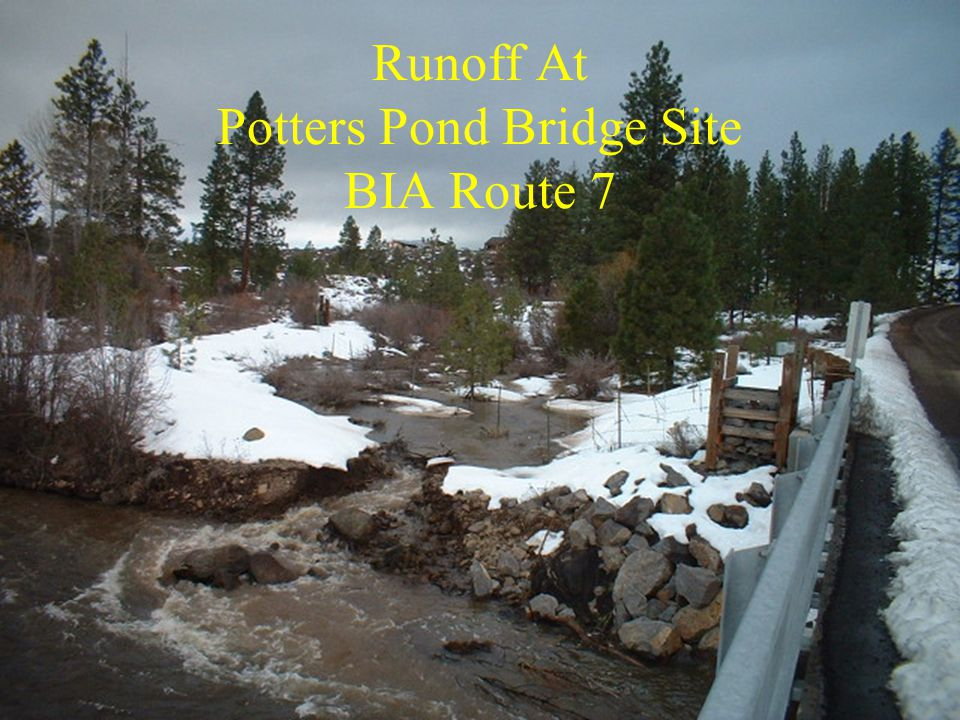 Runoff At Potters Pond Bridge Site BIA Route 7