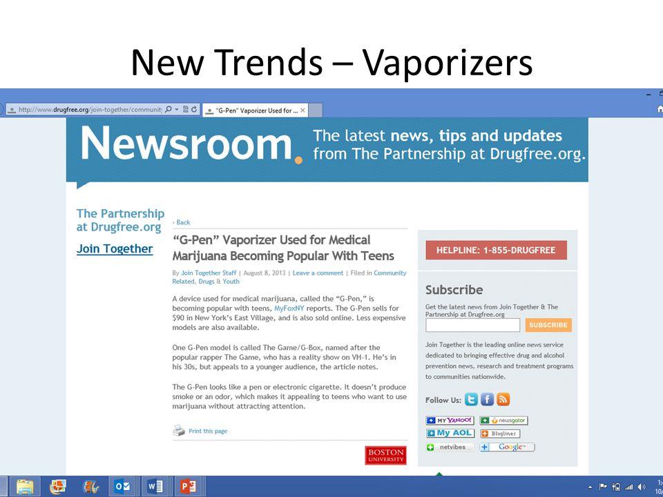 New Trends – Vaporizers