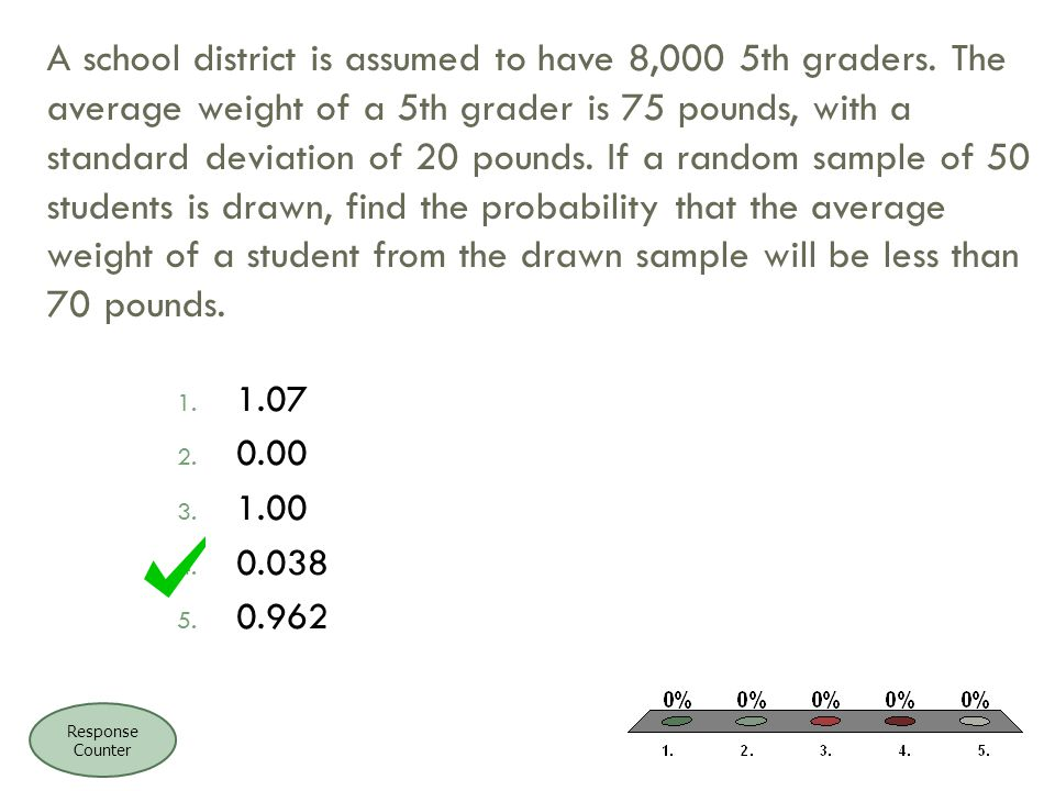 A school district is assumed to have 8,000 5th graders.
