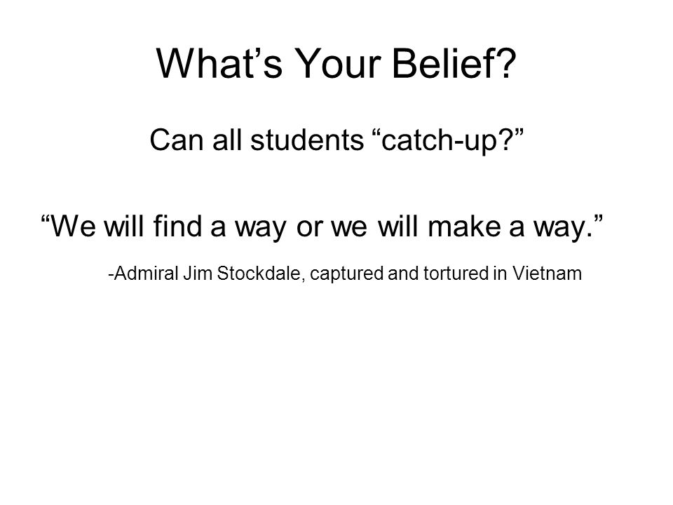 What's Your Belief.