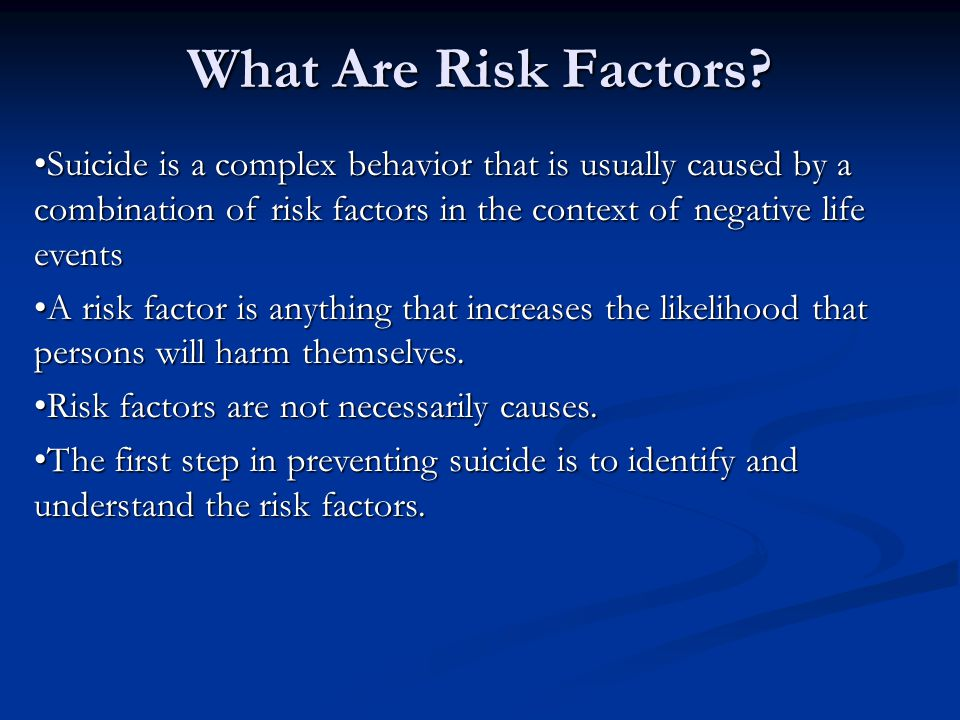 What Are Risk Factors.