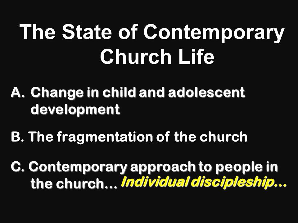 "Church Y.M. C.M. M.M. W.M. C.M. F.M. ""Church"" Cultural and Developmental Context The Fragmentation of the Church"