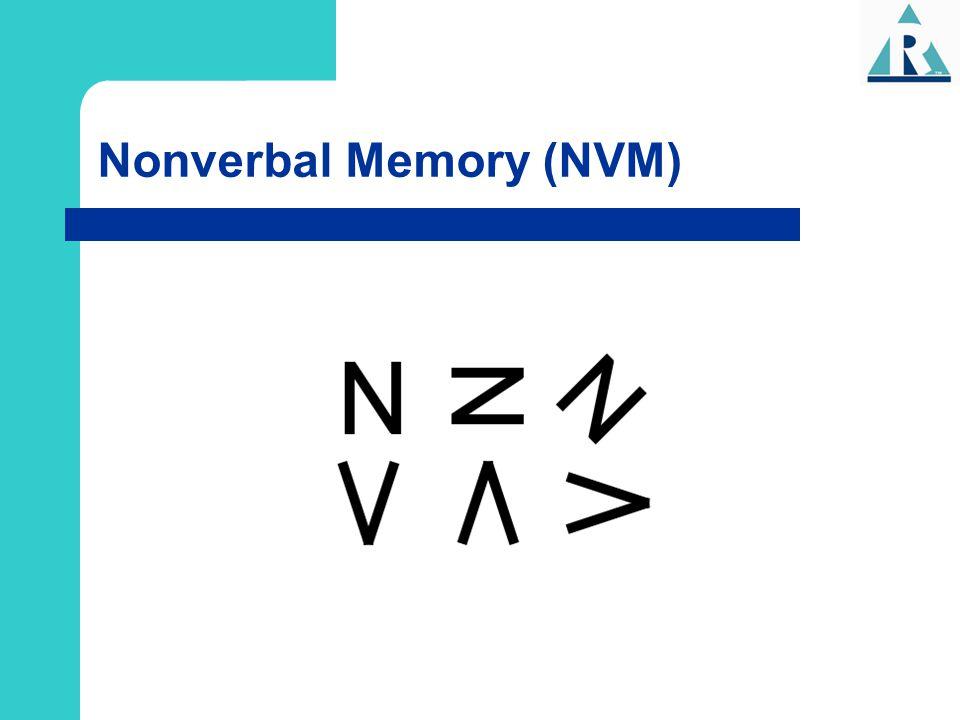 Nonverbal Memory (NVM)
