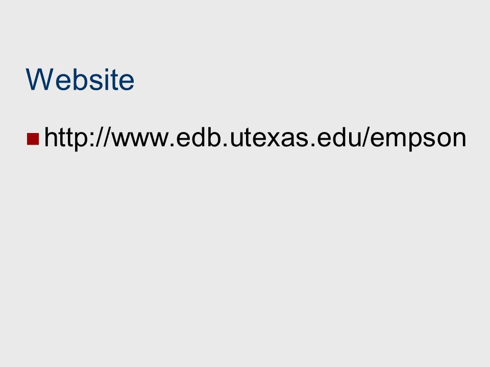 Website http://www.edb.utexas.edu/empson