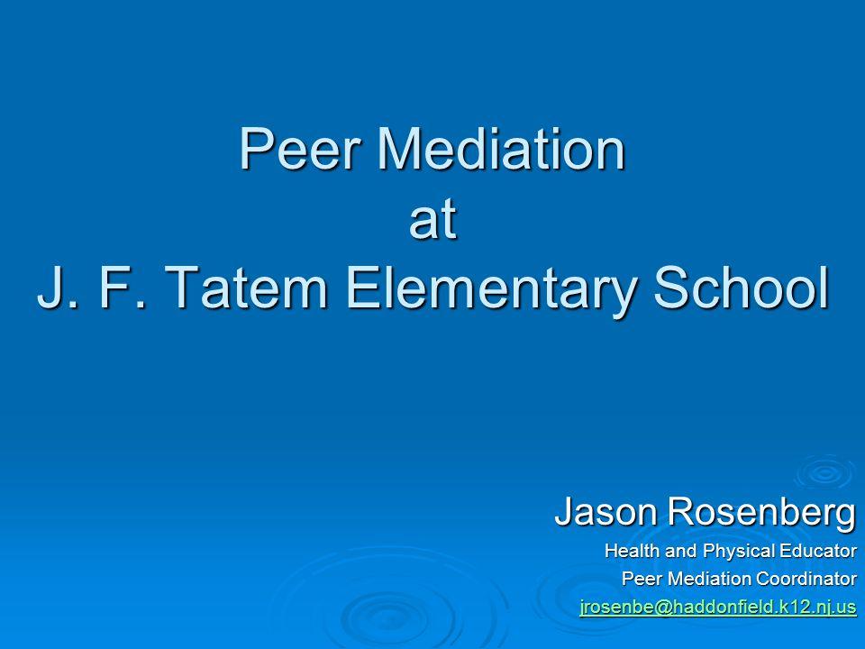 Peer Mediation at J.F.