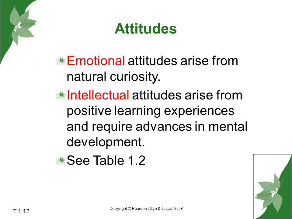 Copyright © Pearson Allyn & Bacon 2009 T 1.13 Scientific Attitudes