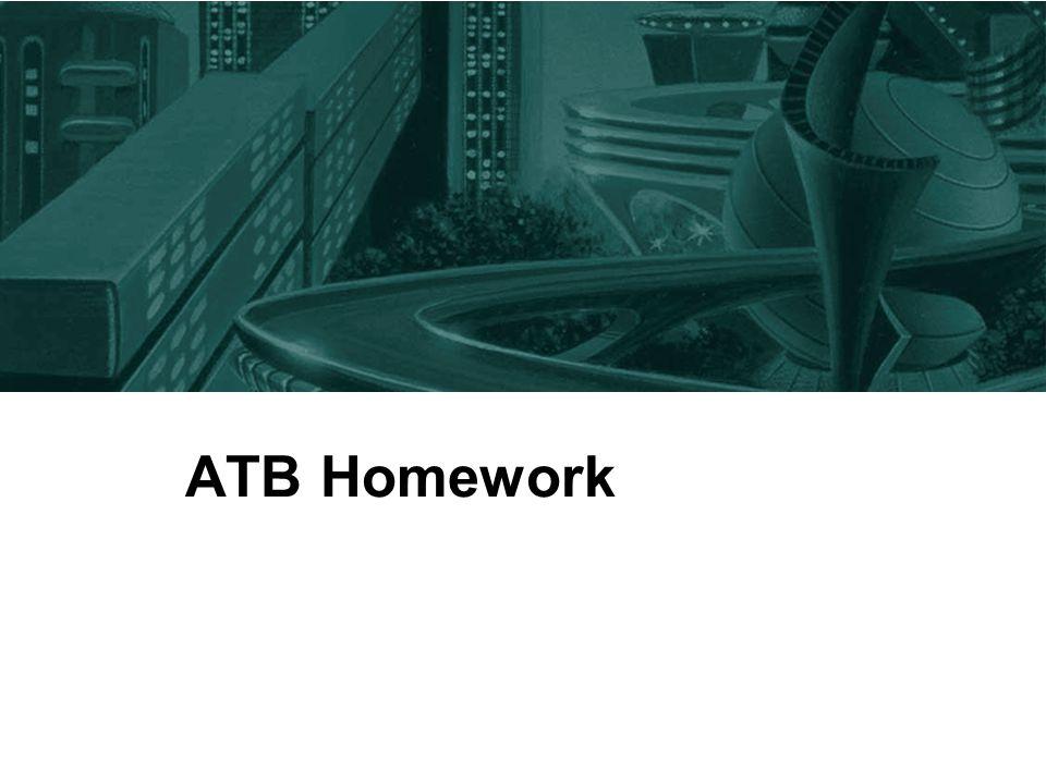 ATB Homework
