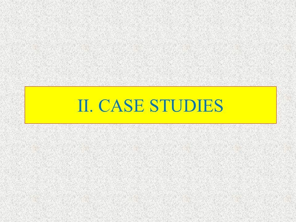 II. CASE STUDIES