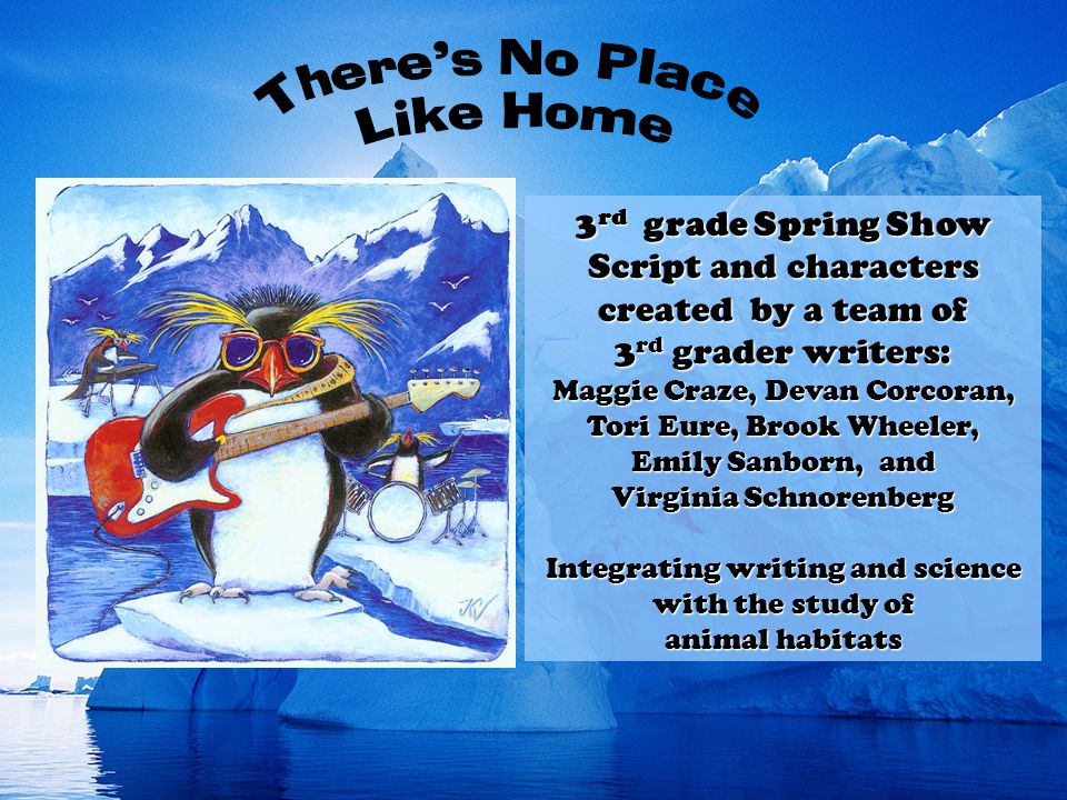 3 rd grade Spring Show Script and characters created by a team of 3 rd grader writers: Maggie Craze, Devan Corcoran, Tori Eure, Brook Wheeler, Emily S
