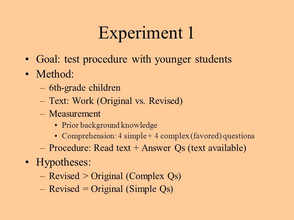 Human Work (REVISED) 5th-grade text 281 words (+24%) Links per node: M = 1.18 (+26%) SD = 1.18 (+9%) 12 % Explicit links 5G 20G 14E 12E