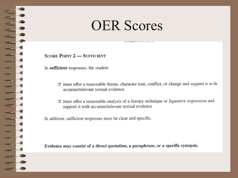 OER Scores